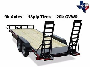 New Texas Pride 7 x20 18 2 Lowboy Equipment Trailer 20k Gvwr