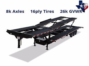 Brand New Texas Pride 47 Four Car Hauler Trailer 26k Gvwr