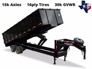 Brand New Texas Pride 8 X 24 Dump Trailer 30k Gvwr Loaded With Options