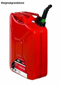 Briggs Stratton 85043 5 Gallon Spill Proof Metal Gas Can Steel Fuel Leak Proof