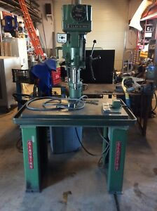 Clausing 20 Inch Drill Press With Stand 480 Volt Good Condition