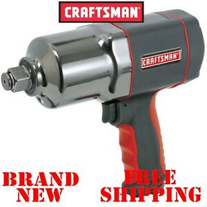 New Craftsman 1 2 In Inch Impact Wrench Heavy Duty 580 Torque Air Power Cordless