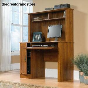 Furniture Computer Desk W Divided Storage Shelf On Hutch Home Office Work Decor