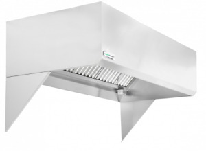 Hoodmart 8 X 48 Short Cycle Makeup Air Type 1 Commercial Kitchen Hood