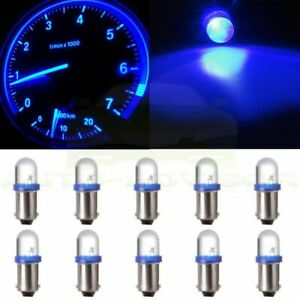 10pcs 1815 1445 Ba9s Xenon Blue Led Dash Cluster Instrument Panel Light Bulb 12v