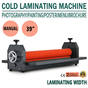 39 Laminating Manual Mount Machine Cold Photo Vinyl Film Laminator New
