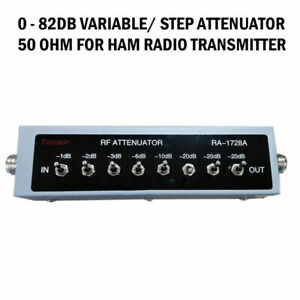 New 0 82db Variable Step Attenuator 50 Ohm For Ham Radio Transmitter Etc cb4
