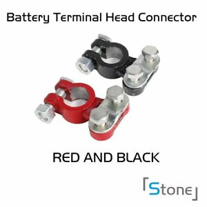 Pair Top Post Battery Charger Cable Aluminum Quick Connect Clip Wire Clamp Auto