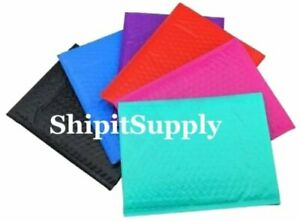 6x10 0 Black Blue Camo Pink Purple Red Or Teal Color Poly Bubble Mailers