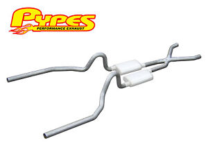 1965 1970 Ford Mustang 260 289 302 351w Pypes 2 5 Exhaust System Kit W X Pipe