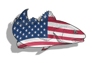 Usa Redfish Red Fish Sticker Fishing Boat Truck Car Vehicle Window Bumper Decal