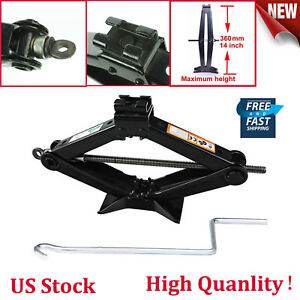 New 2 Ton Tonne Car Van Scissor Jack Wind Up With Chromed Crank Speed Handle