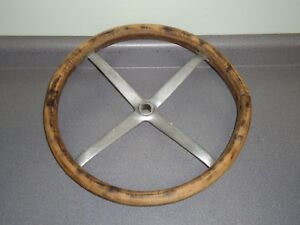 Factory 1924 1925 Dodge Wood Steering Wheel 4 Spoke C 18866 Antique Vintage