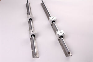 2x Sbr25 600mm Cnc Linear Rail 4x Sbr25uu Bearing Block Fully supported