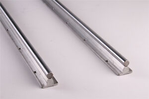Sbr25 800mm Fully Supported Linear Rail 2pcs Guide Rail Shaft Rod For Cnc