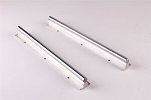 2pcs Sbr25 400 Linear Rail Shaft Rod Slide Guide Fully Supported For Cnc