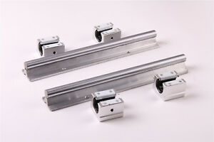 2pcs Sbr10 600mm Cnc Linear Slide Rail Shaft 4pcs Sbr10uu Bearing Block