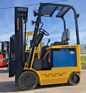 Free Freight To 48 States 2004 Daewoo Electric Bc15s 3000lb Forklift Lift Truck