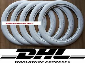 Original Atlas 14 White Wall Tyre Insert Trim Port A Wall Set Of 5