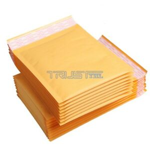500 Pcs 5x7 Kraft Bubble Envelopes Padded Mailers Shipping Self seal Bags A
