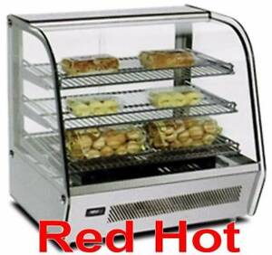 Omcan 39535 White 27 Countertop Hot Food Warmer Glass Display Case Dw cn 0120