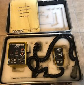 Ramsey Grad line Slope Controller S276 In Original Hard Carry Case Untested