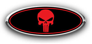 Ford Mustang Fox Body 1979 1993 Overlay Logo Sticker Decal Punisher Black Red