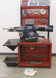 Ammco 4000e Electronic Disc And Drum Brake Lathe W Stand 3 jaw Chuck Tool Kit