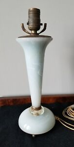Vintage Brass Faux Marble Alabaster Like Classic Column Lamp 14 1 4 Project