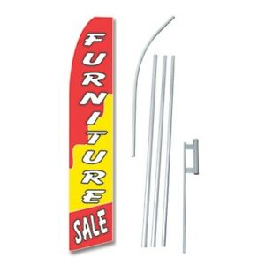 2x Furniture Sale Flag Swooper Feather Sign Weatherproof Banners 15 Kit 2 ryw