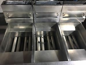 Pitco 3 bay Natural Gas Fryer With Filtration