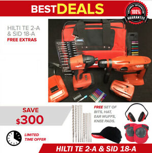 Hilti Te 2 a18 Sid 18 a Mint Condition 2 Batteries Free Extras Fast Ship