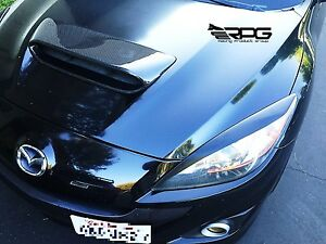 Rpg Carbon Fiber Headlight Eyelid Eyebrow For 2010 2013 Mazdaspeed 3 Mazda 3 Mps