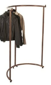 Half Round Clothing Rack Pipeline Collection Copper Garment 37 1 2 X 55