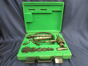 Greenlee Hydraulic Punch Set 767 Hand Pump And 746 Ram In Case