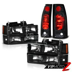 Black Corner Bumper Head Light Rear Red Black Tail Lamp Suburban Silverado Tahoe