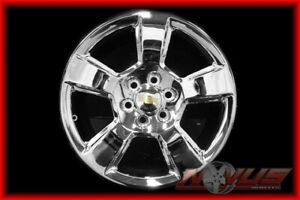 1 New 2015 20 Chevy Tahoe Ltz Z71 Silverado Suburban Gmc Sierra Chrome Wheel 22
