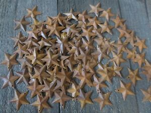 Lot Of 100 Rusty Barn Stars 1 5 Inch Rustic Primitive Country Rusted Dimensional
