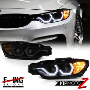 M3 Laser Style 2012 15 Bmw F30 320i 328i 335i Black Smoke Projector Headlights