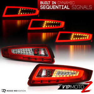 2005 2008 Porsche 997 911 Carrera Targa Sequential Signal Red Oled Tail Lights