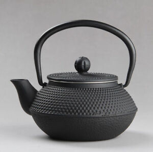 Japanese Japan Cast Iron Teapot Kettle Pot Small Nail Black 300ml