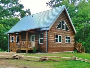 Log Cabin Kit 6 X 12 Chink Logs averett 1 251 Square Feet 36 X 26 50 670 00