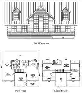 Log Cabin Kit 6 X 12 Chink Logs gatlinburg 24 X 42 1788 Sq Ft 58 985 00