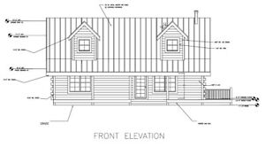 Log Cabin Kit 6 X 8 D logs cedar Creek 1688 Sq ft 22 X 32 60 040 00