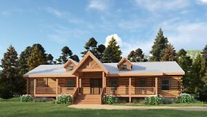 Log Cabin Kit 6 X 8 D logs blue Ridge 2360 Sq ft 30 X 75 62 500 00