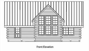 Log Cabin Kit 6 X 8 D logs smokey 24 X 42 1354 Sq Ft 48 905 00