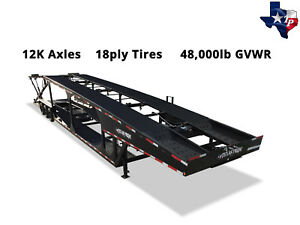 Texas Pride 8 X 53 Double Deck Six Car Hauler Trailer 48k Gvwr
