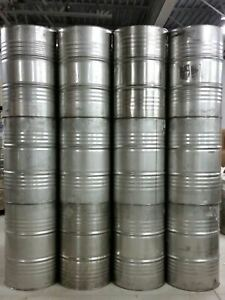 Used 55 Gallon Stainless Steel Closed Top Drums 12 Pack
