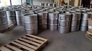 55 Gallon Stainless Steel Drums Stainless Steel Barrels Thick 8 Pack