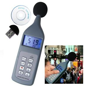 Sl5868 Digital Sound Pressure Noise Level Meter 30 130 Db Decibel Cd Bluetooth